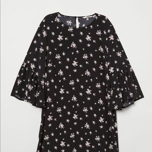 H&M MAMA Black Floral Pattern dress